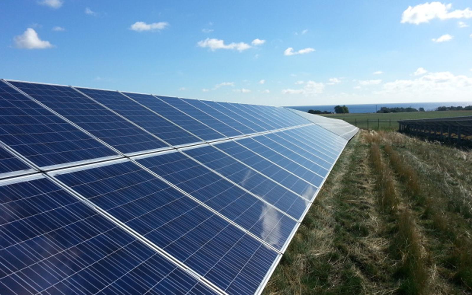 solpaneler på mark i skåne
